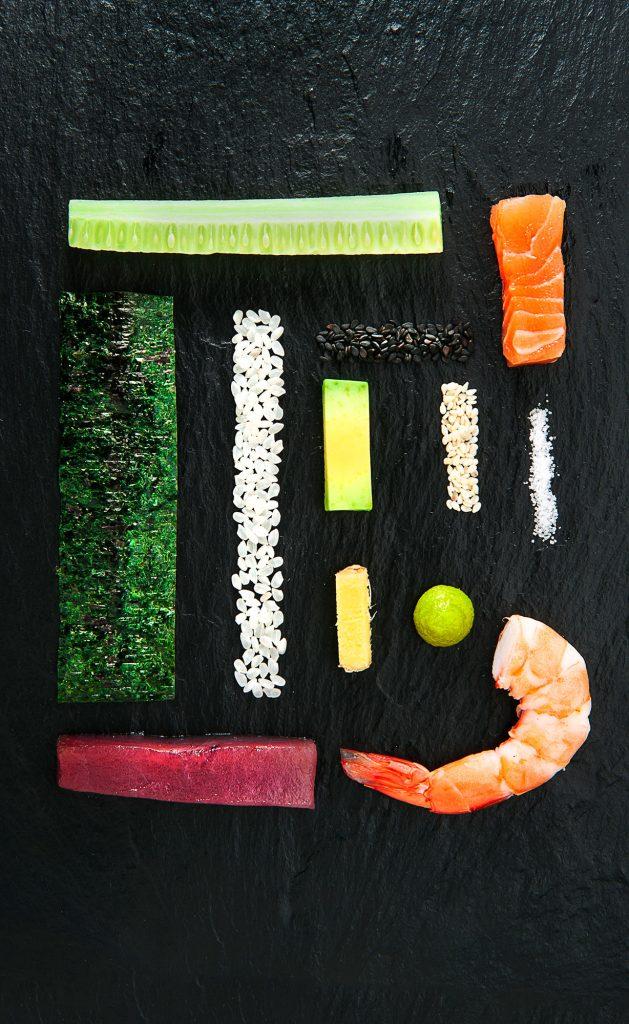 dekonstruiertes Sushi