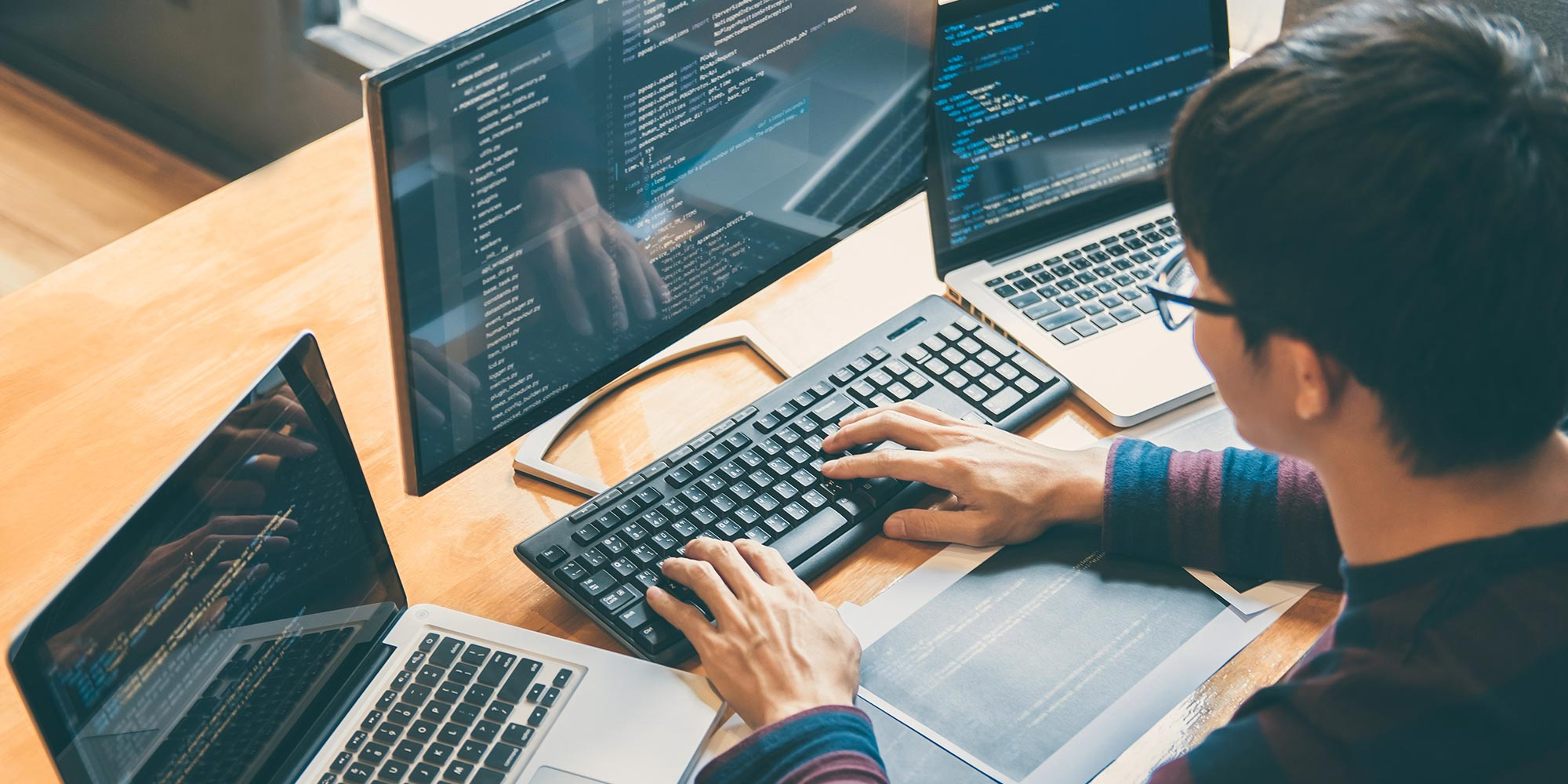 Webentwicklung digitaler Code