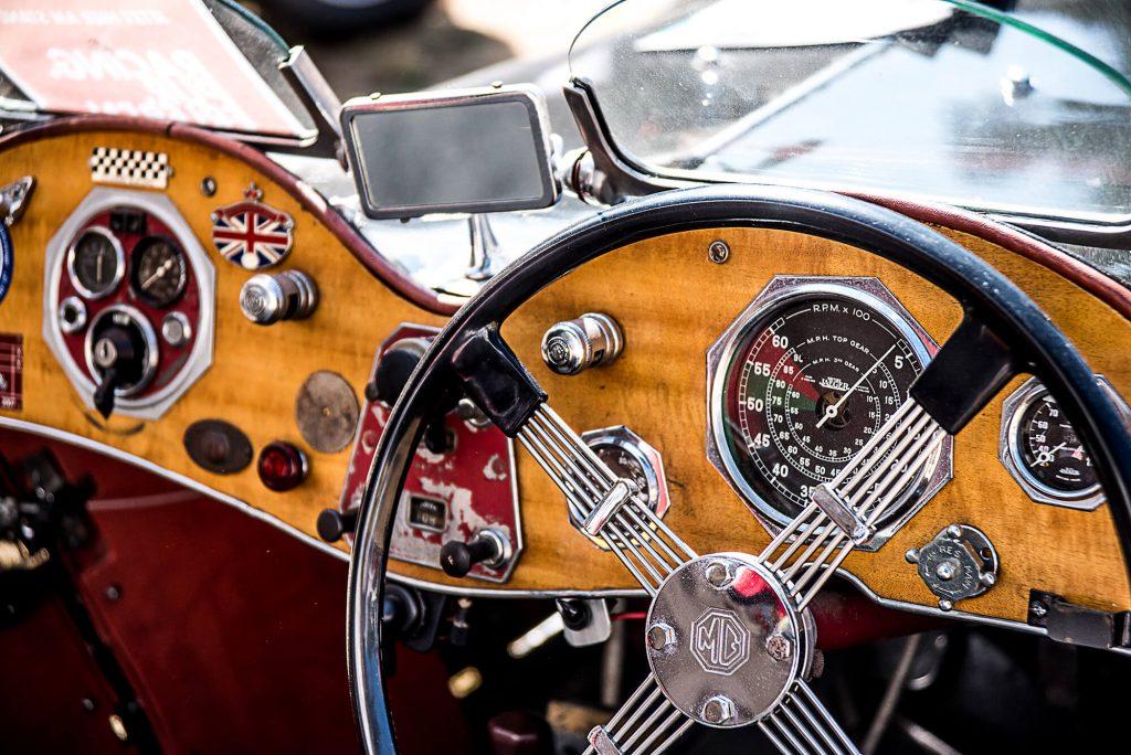 MG Oldtimer Cockpit Nahaufnahme