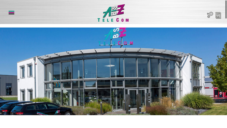 AbisZ TeleCom Screenshot Webseite