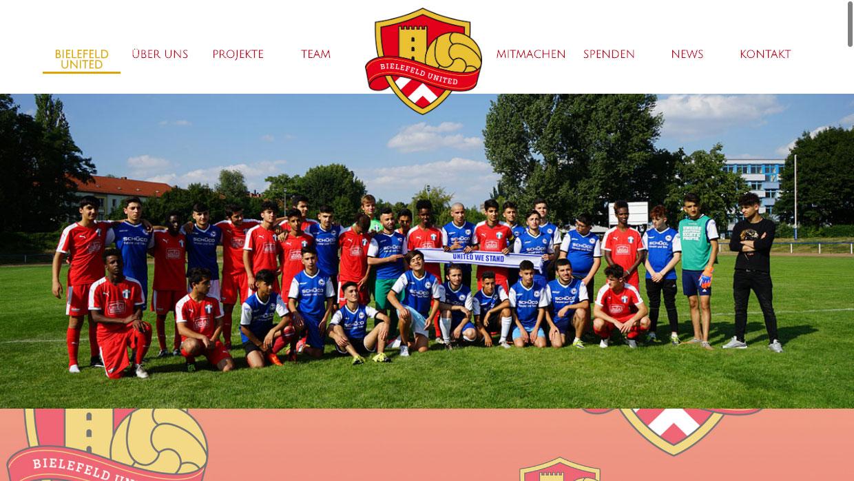 Bielefeld United Webseite Screenshot